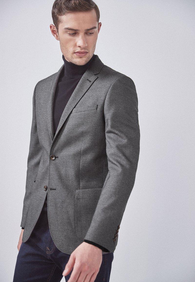 Next - SLIM FIT  - Blazer jacket - mottled grey