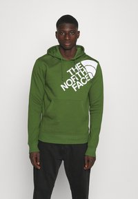 The North Face - SHOULDER LOGO HOODIE - Bluza - conifer green/white - 0