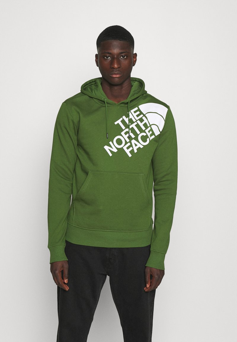 The North Face - SHOULDER LOGO HOODIE - Bluza - conifer green/white