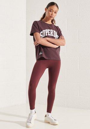 Print T-shirt - deep burgundy