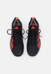 adidas Performance - DEFIANT GENERATION - Tenisové boty na všechny povrchy - core black/solar red - 3