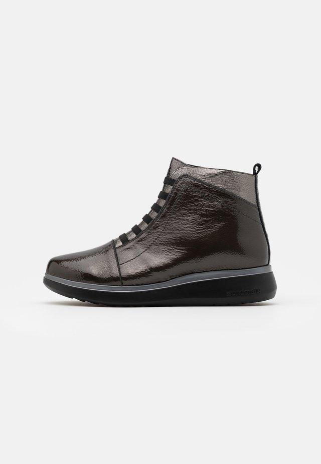 Lace-up ankle boots - gris/plomo