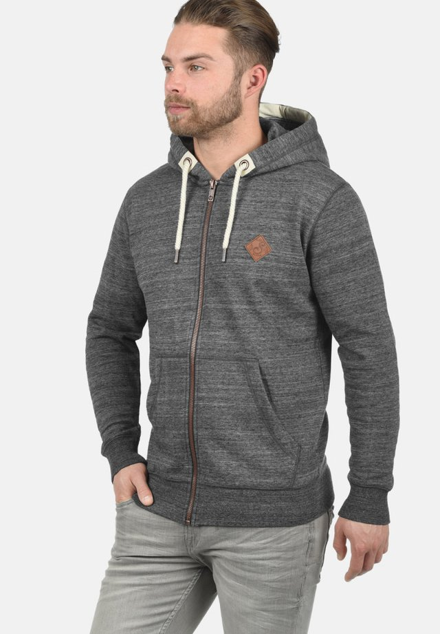 KAPUZENSWEATJACKE CRAIG - Zip-up hoodie - grey melange