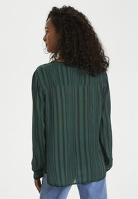 Kaffe - KANORA - Button-down blouse - dark green stripe print - 2