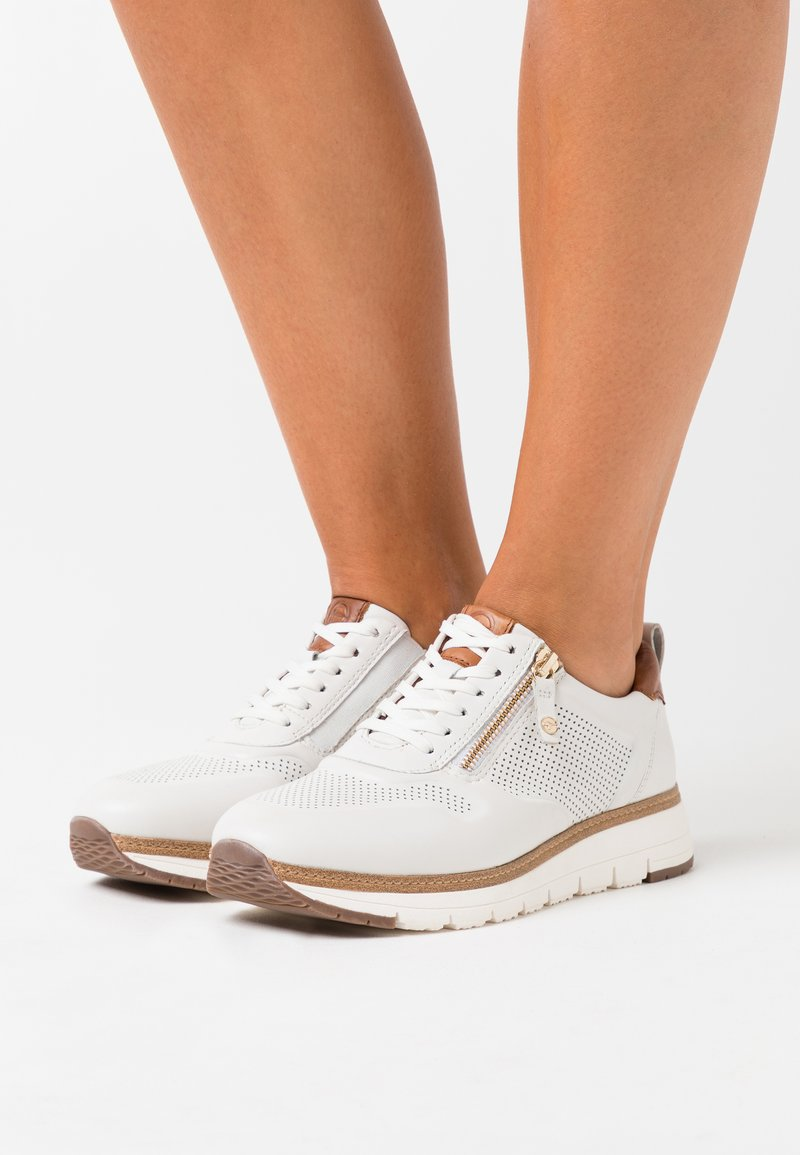 Tamaris Pure Relax - LACE UP - Trainers - white/cognac