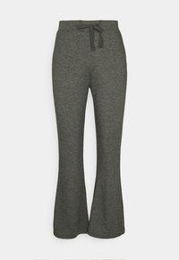 Even&Odd - Flared leg joggers - Tracksuit bottoms - mottled dark grey - 0