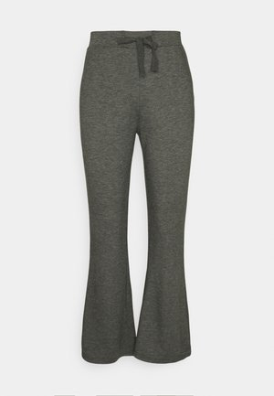 Flared leg joggers - Tracksuit bottoms - mottled dark grey