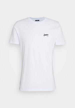 SCISSOR SLIM TEEMOJ UNISEX - Print T-shirt - bright white