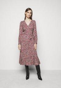 MICHAEL Michael Kors - TIERED WRAP DRESS - Day dress - dark ruby - 0