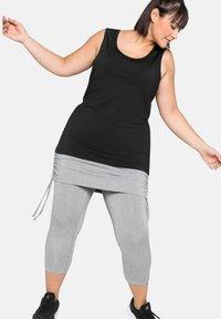 Sheego - Leggings - Trousers - mottled light grey - 1