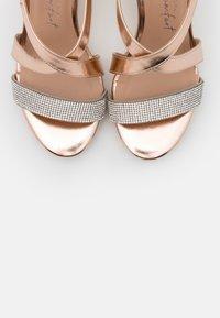 New Look Wide Fit - WIDE FIT SUNSHINE BLING MULTISTRAP WEDGE - Sandály na vysokém podpatku - rose gold - 5