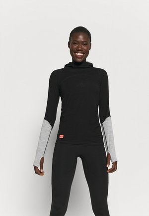 BELLA TECH FLEX HOOD - Undershirt - black