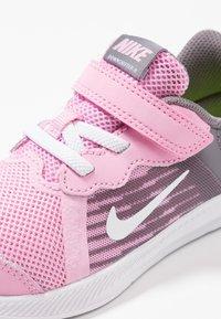 Nike Performance - DOWNSHIFTER 8 - Sports shoes - pink rise/white/gunsmoke/black - 2