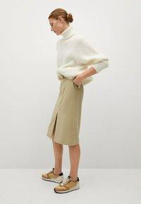 Mango - PENCIL - A-line skirt - beige - 3