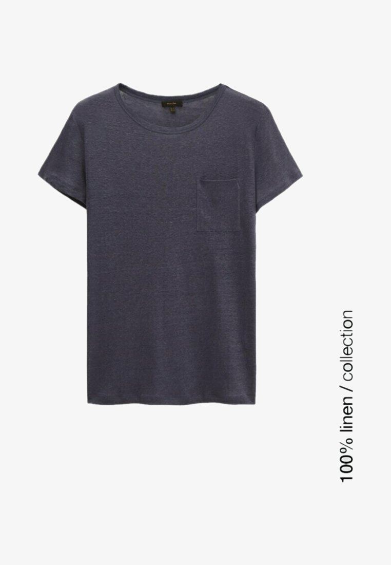 Massimo Dutti - MIT TASCHE  - T-shirt basique - blue