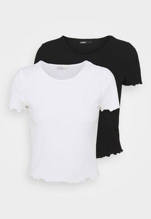 ONLEMMA SHORT 2 PACK - T-shirt basique - black/white