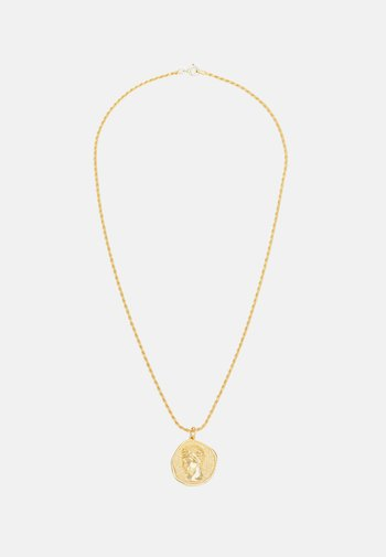 HERMIS LARGE PENDANTTHICK CORD CHAIN - Necklace - gold-coloured