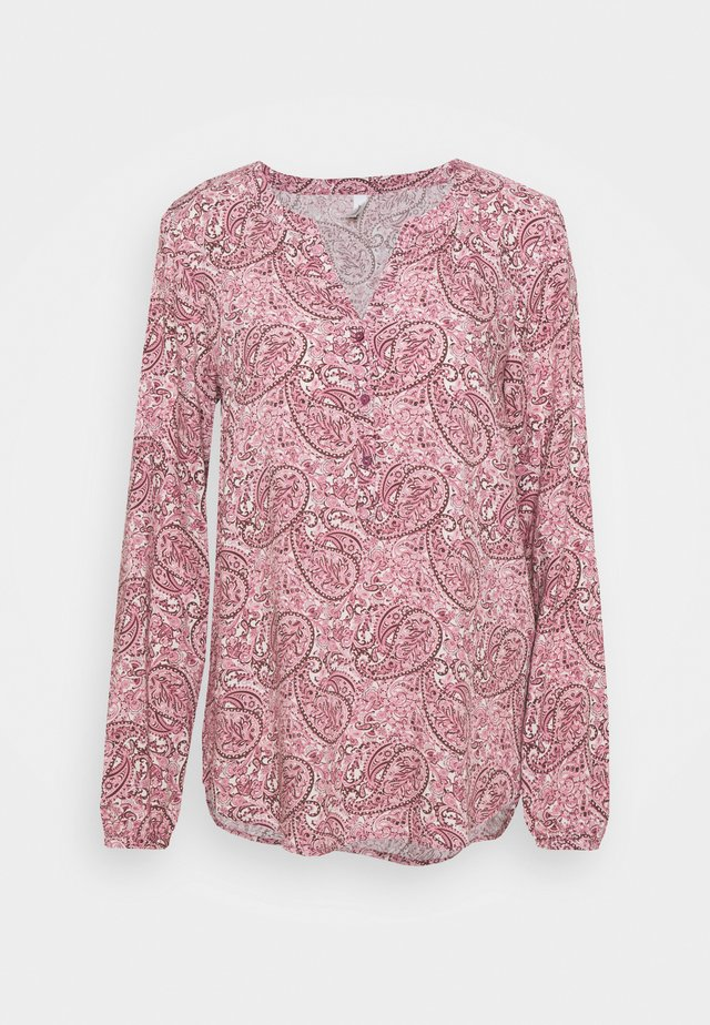 ODELIA - T-shirt à manches longues - dark pink/rose combi