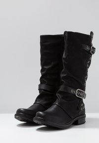 Coolway - GISELE - Kowbojki i obuwie motocyklowe - black - 4