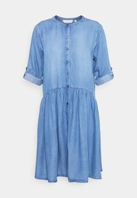 TOM TAILOR DENIM - DRESS WITH PLACKET - Denimové šaty - blue denim - 0