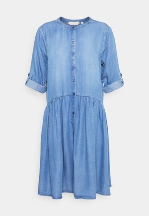 DRESS WITH PLACKET - Dongerikjole - blue denim