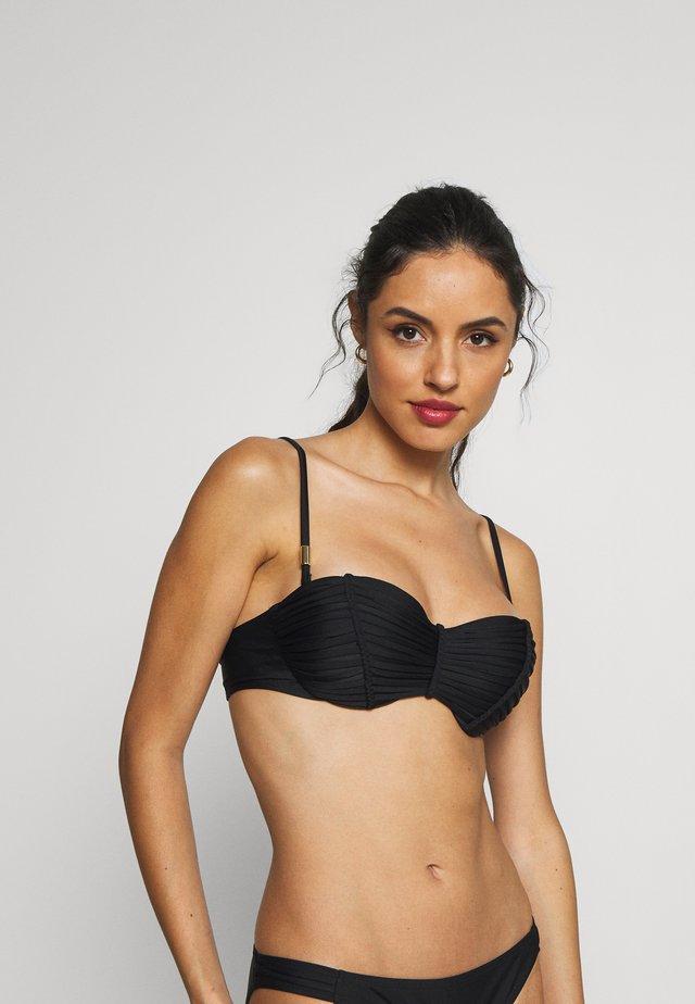 MACRAME LUXE BALCONY - Bikini pezzo sopra - nero