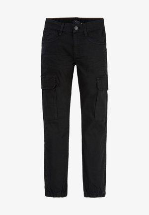 SLIM FIT: SKINNY LEG-CARGOHOSE - Cargo trousers - black