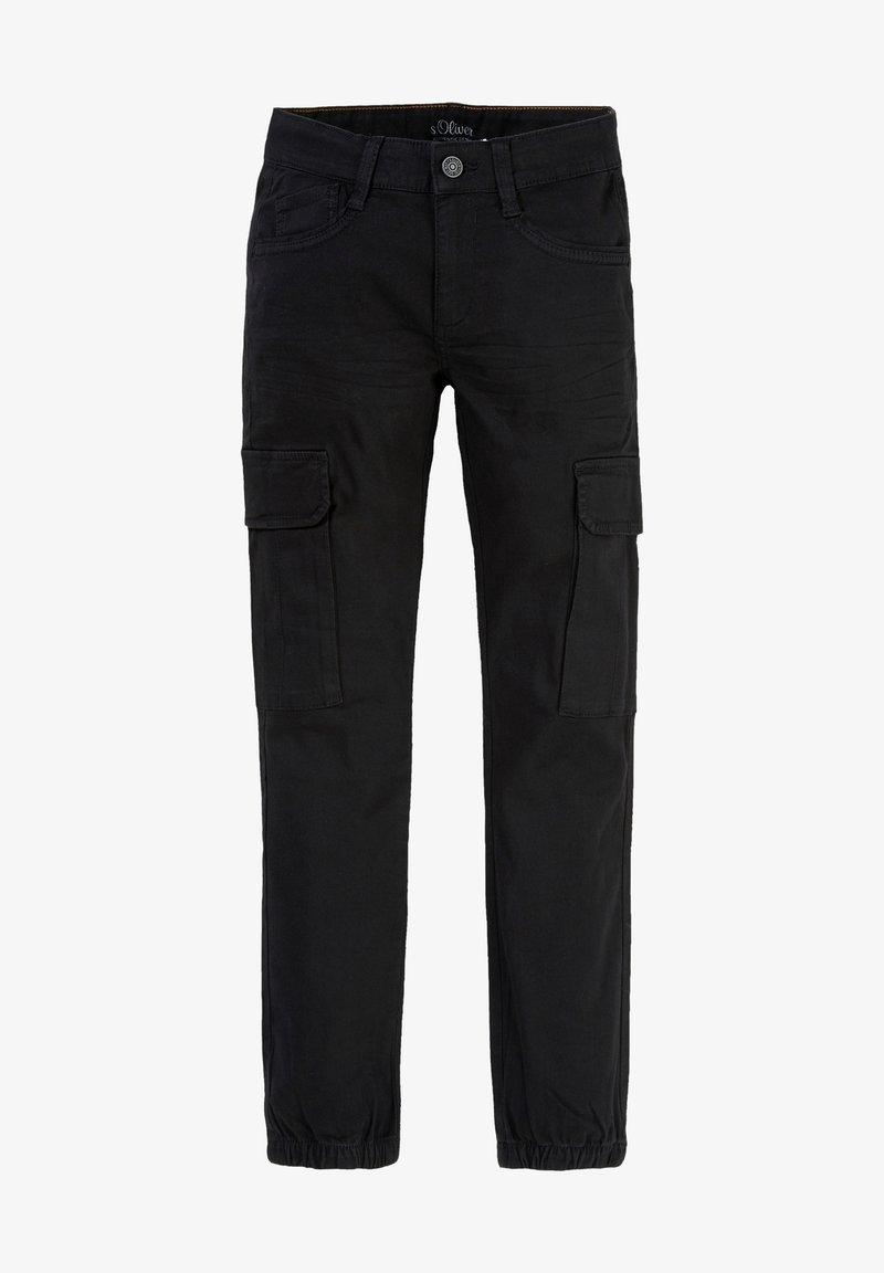 s.Oliver - SLIM FIT: SKINNY LEG-CARGOHOSE - Cargo trousers - black