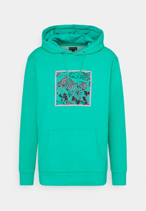 FRONT & BACK GRAPHIC HOODY UNISEX - Hoodie - green