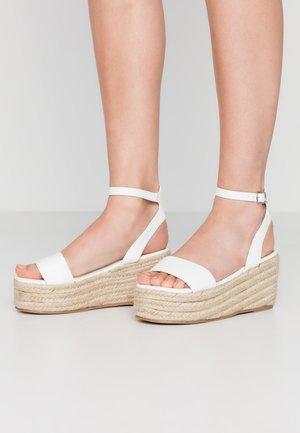 VEGAN  - Espadrilles - white