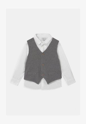 MINI 2-IN-1 - Suit waistcoat - off black