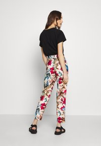 Pedro del Hierro - FLORAL PRINT TROUSER - Trousers - brown/print - 2