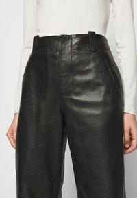 Alberta Ferretti - Leather trousers - black - 3