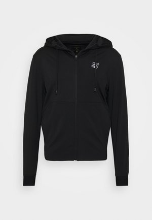 AGILITY ZIP THROUGH HOODIE - Sportovní bunda - black