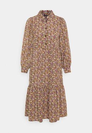 PCANJA MIDI DRESS - Shirt dress - black/brown/purple