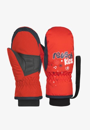 Mittens - fire red/dress blue/white
