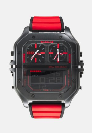 CLUSHER - Digitaalikello - black/red