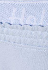 Hollister Co. - LOGO - Tracksuit bottoms - light blue - 2