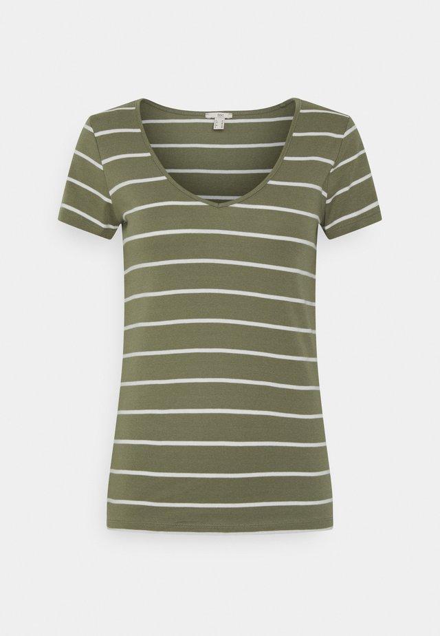 T-shirt z nadrukiem - light khaki