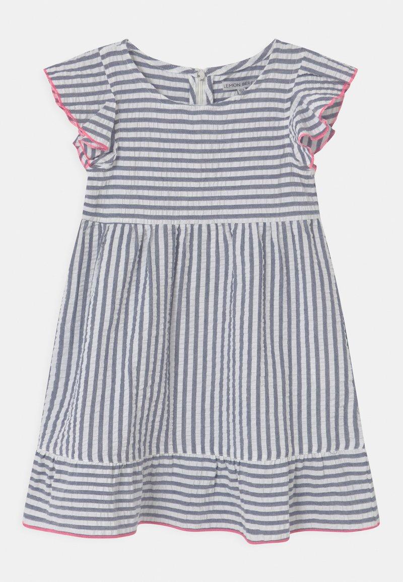 Lemon Beret - SMALL GIRLS - Day dress - blue/white