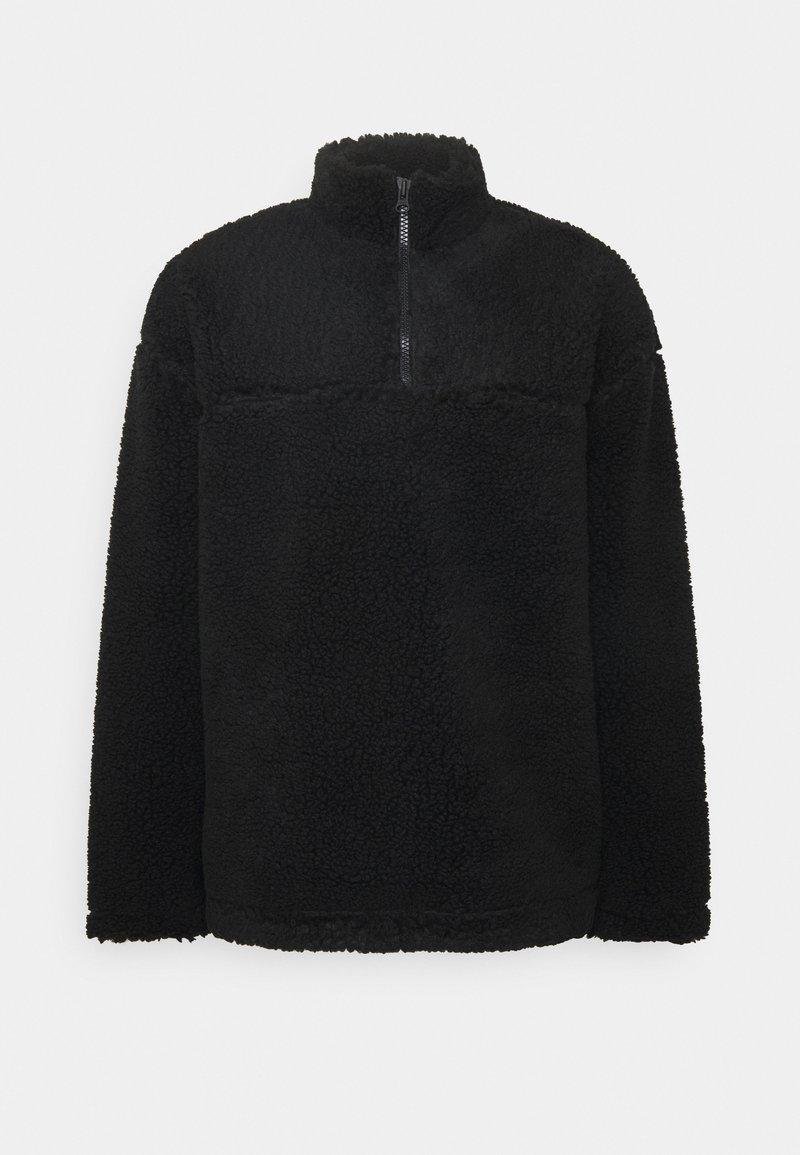 Weekday - IVAN PILE HALFZIP UNISEX - Winter jacket - black