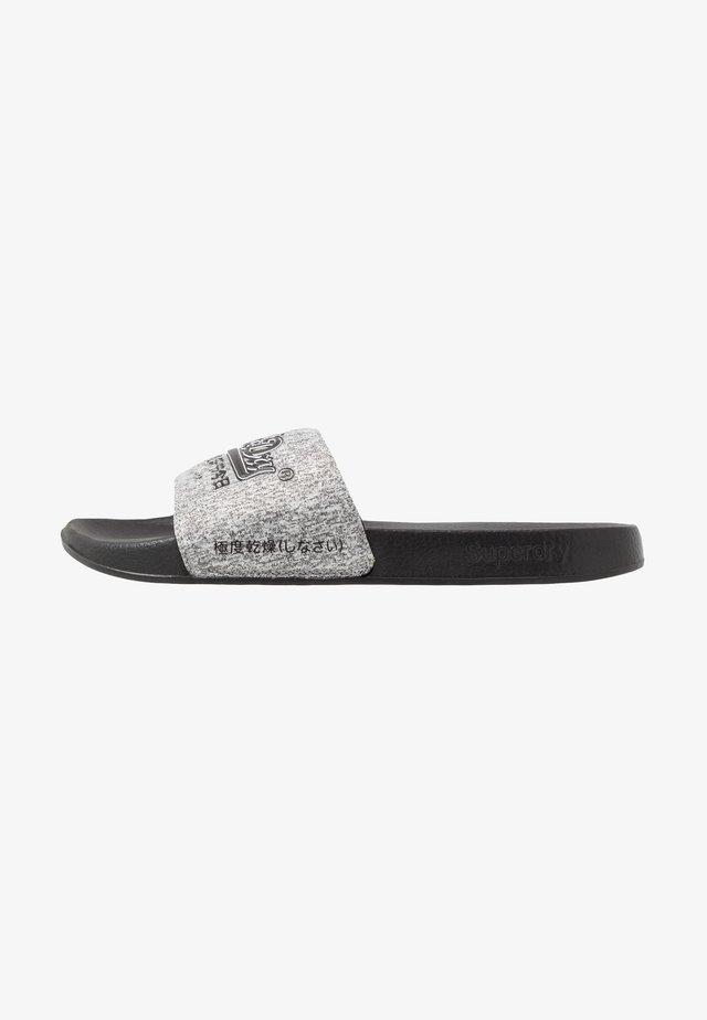 VINTAGE LOGO POOL SLIDE - Mules - dark grey