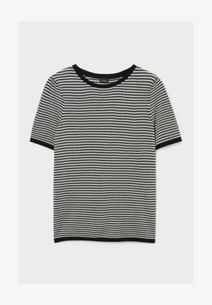 Print T-shirt - black / white
