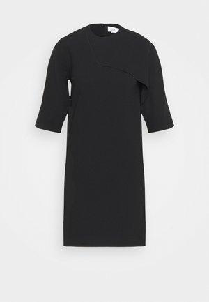 DRAPE DETAIL SHIFT DRESS - Denní šaty - black