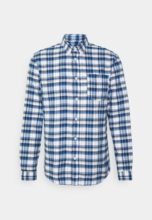 SLHREGZANE SHIRT CHECK  - Camicia - dark blue