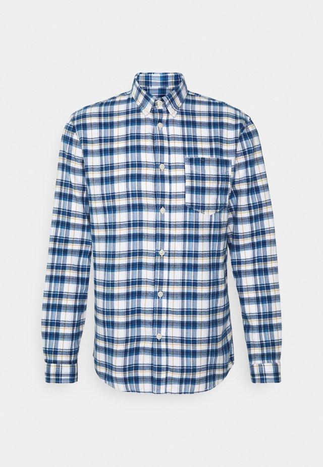 SLHREGZANE SHIRT CHECK  - Shirt - dark blue
