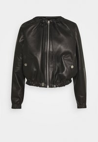 LIGHTWEIGHT JACKET - Leather jacket - black