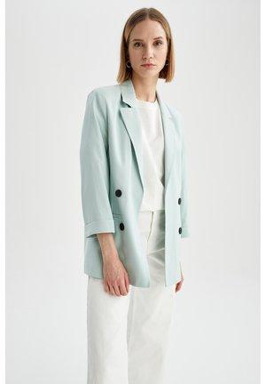 Short coat - turquoise