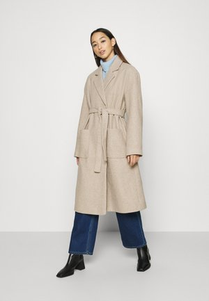 IRMA BELTED COAT - Classic coat - greige