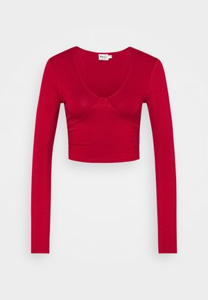 VNECK DETAIL - Long sleeved top - red